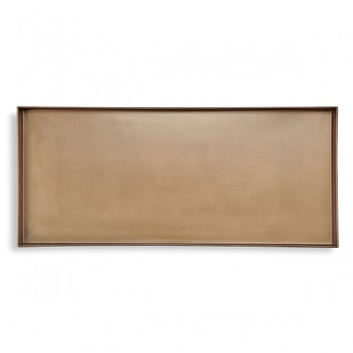 Good Directions Classic Boot Tray for Boots, Shoes, Plants, Pet Bowls, and More, Brass Finish
