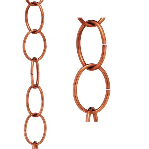 Single Link Pure Copper 8.5 ft. Rain Chain