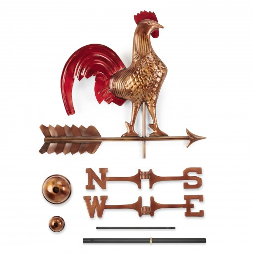 Good Directions Rooster Weathervane - Blue Verde Copper