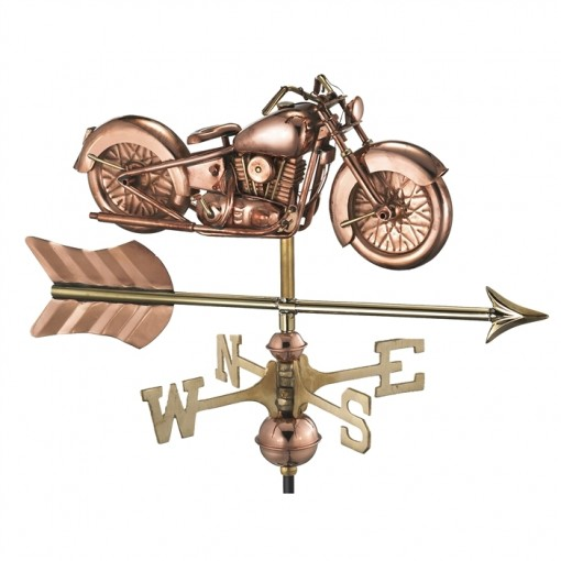 Motorcycle with Arrow Garden Weathervane with Garden Pole