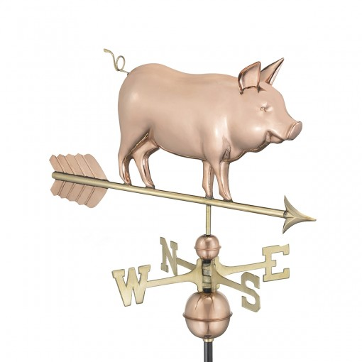 Good Directions Country Pig Weathervane – Pure Copper