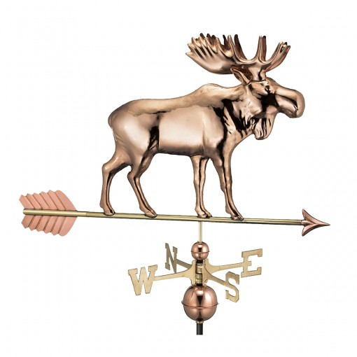 Good Directions Moose Weathervane with Arrow - Pure Copper