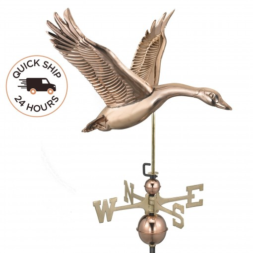 Good Directions Feathered Goose Weathervane - Pure Copper