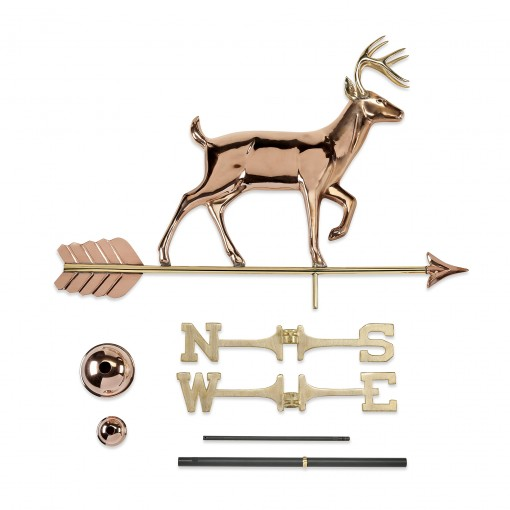 Good Directions White Tail Buck Weathervane - Pure Copper