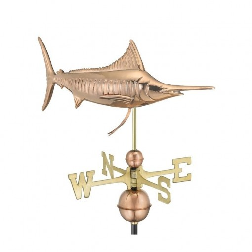 Good Directions Marlin Weathervane - Pure Copper