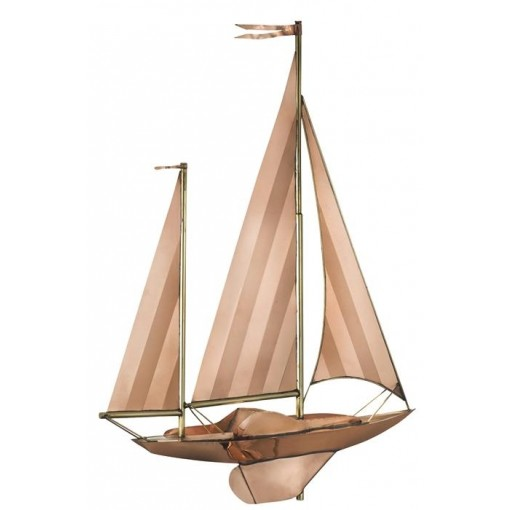 Large Sailboat Weathervane - Pure Copper by Good Directions