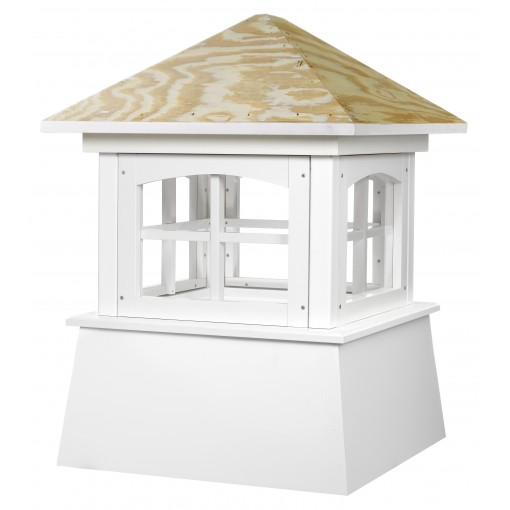 """Good Directions Brookfield Vinyl Cupola with Wood Roof 42"""" x 58"""""""