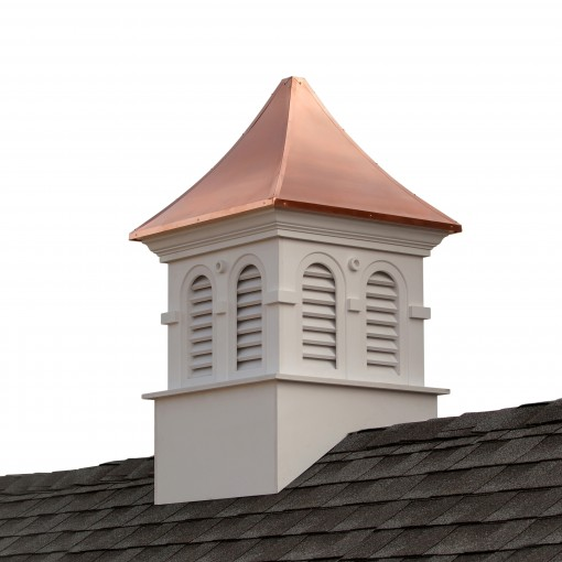 """Good Directions Smithsonian Columbia Vinyl Cupola with Copper Roof 42"""" x 67"""""""