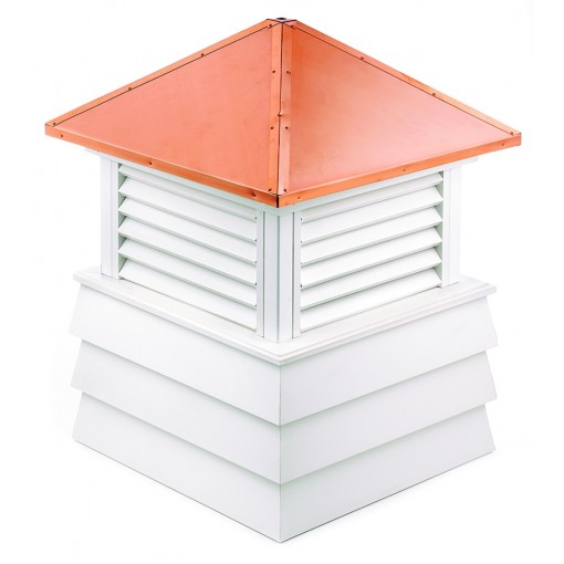"""Good Directions Dover Vinyl Shiplap Cupola with Copper Roof 60"""" x 85"""""""