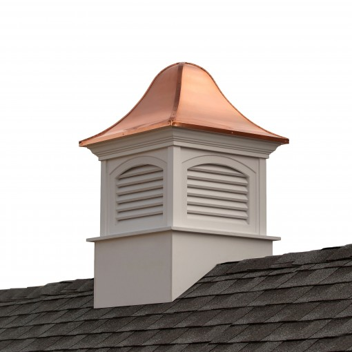"""Good Directions Fairfield Vinyl Cupola with Copper Roof 30"""" x 49"""""""