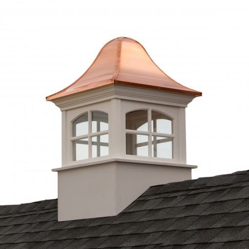 """Good Directions Greenwich Vinyl Cupola with Copper Roof 30"""" x 49"""""""