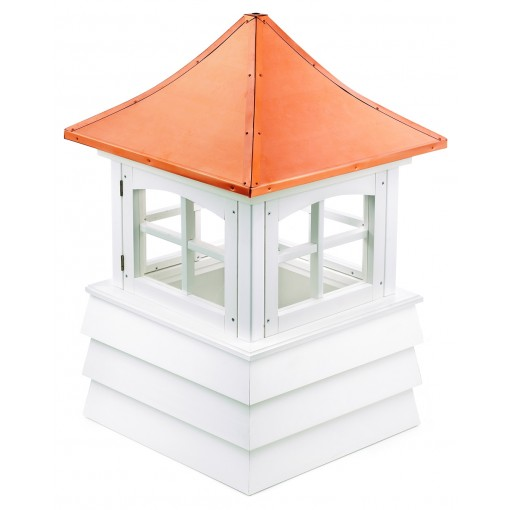 """Good Directions Guilford Vinyl Shiplap Cupola with Copper Roof 54"""" x 85"""""""
