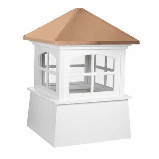 """Good Directions Huntington Vinyl Cupola with Copper Roof 48"""" x 68"""""""