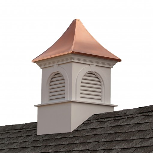 """Good Directions Smithsonian Newington Vinyl Cupola with Copper Roof 30"""" x 51"""""""