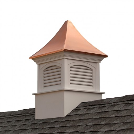 Southington Vinyl Cupola with Copper Roof