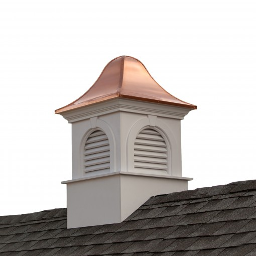 """Good Directions Smithsonian Ridgefield Vinyl Cupola with Copper Roof 42"""" x 66"""""""
