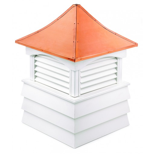 """Good Directions Sherwood Vinyl Shiplap Cupola with Copper Roof 26"""" x 37"""""""