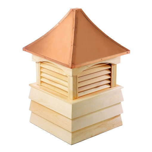 """Good Directions Sherwood Wood Shiplap Cupola with Copper Roof 36"""" x 51"""""""