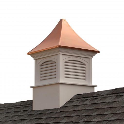 """Good Directions Southington Vinyl Cupola with Copper Roof 42"""" x 66"""""""