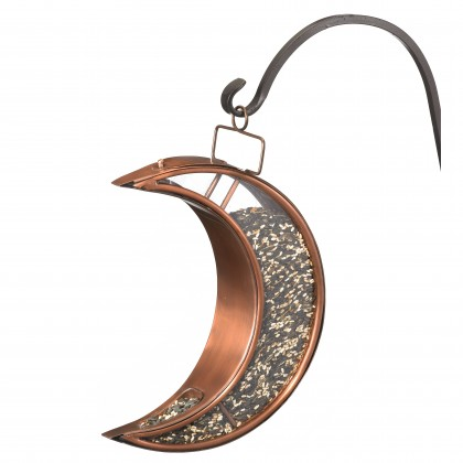 Good Directions   Villa Bird Feeder, White with Pure Copper Roof, Large 4 lb. Seed Capacity