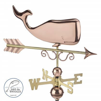 Good Directions Save the Whales™ Weathervane - Pure Copper