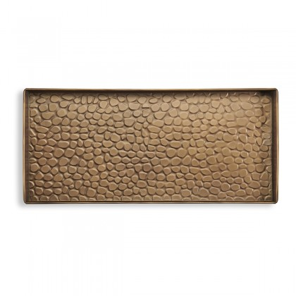 Good Directions 208BR Pebbles Boot Tray for Boots, Shoes, Plants, Pet Bowls, and More, Brass Finish