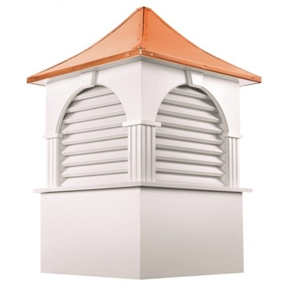 Farmington Vinyl Cupola with Copper Roof