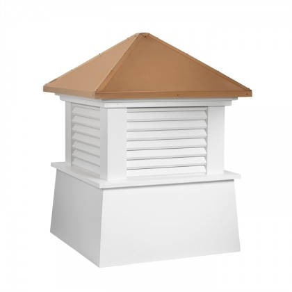 Manchester Vinyl Cupola with Copper Roof
