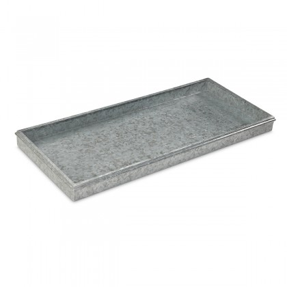 Good Directions lassic Boot Tray for Boots, Shoes, Plants, Pet Bowls, and More, Galvanized Gray Steel