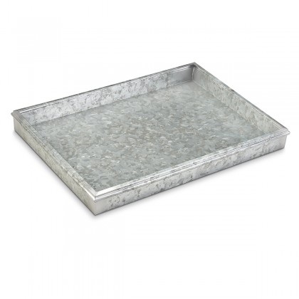 """Good Directions 20"""" Classic Boot Tray 4220GAL for Boots, Shoes, Plants, Pet Bowls, and More, Galvanized Gray Steel"""