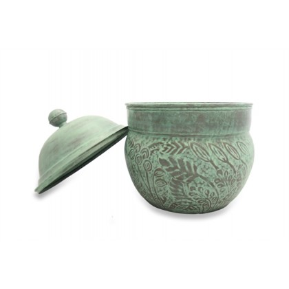 Key West Hose Pot with Lid - Blue Verde