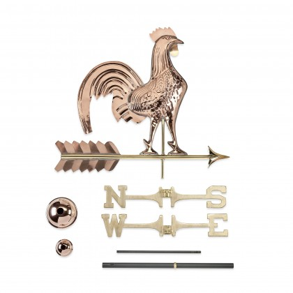 Good Directions Rooster Weathervane - Pure Copper