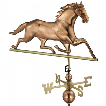 Good Directions Horse Weathervane - Pure Copper