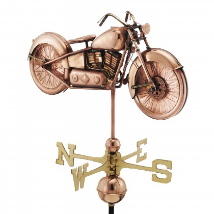 Good Directions Motorcycle Weathervane - Pure Copper
