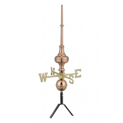 "Pure Copper 31"" Morgana Rooftop Finial with Directionals"