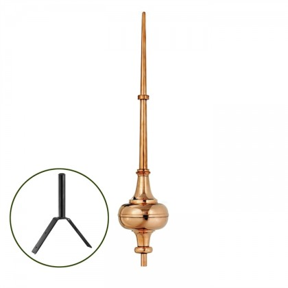 "53"" Morgana Polished Copper Rooftop Finial"