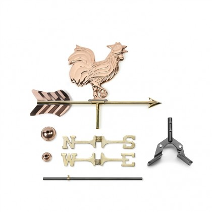 Rooster Cottage Weathervane with Roof Mount