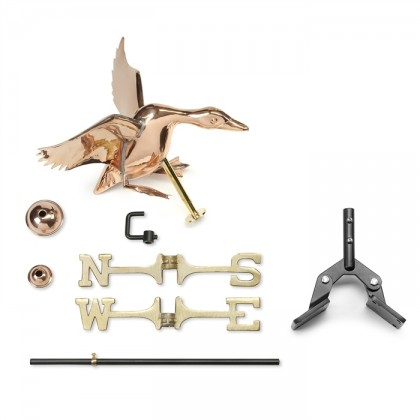 Landing Duck Cottage Weathervane with Roof Mount