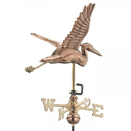 Blue Heron Cottage Weathervane with Roof Mount