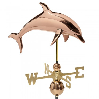 Good Directions Dolphin Weathervane - Pure Copper