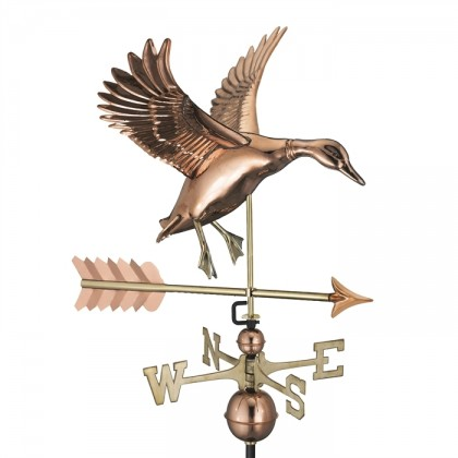 Landing Duck with Arrow Weathervane