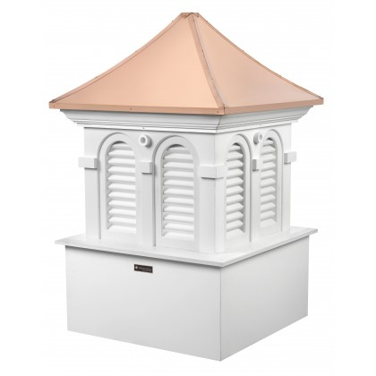 """Good Directions Smithsonian Alexandria Vinyl Cupola with Copper Roof 48"""" x 73"""""""