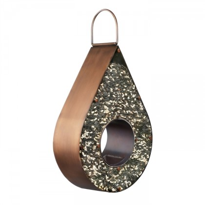 Teardrop Fly-Thru Bird Feeder