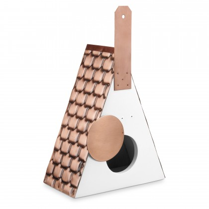 Good Directions  Swiss Chalet Bird House – Pure Copper Roof