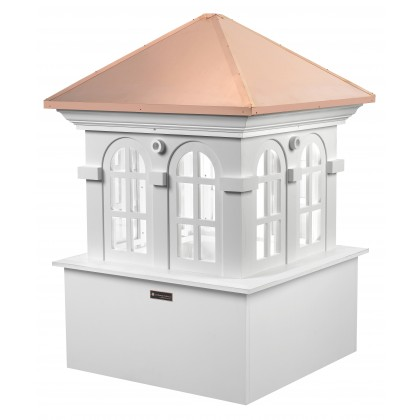 """Good Directions Smithsonian Chesapeake Vinyl Cupola with Copper Roof 36"""" x 51"""""""