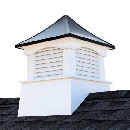 """Good Directions Coventry Vinyl Cupola with Black Aluminum Roof 22"""" x 29"""""""
