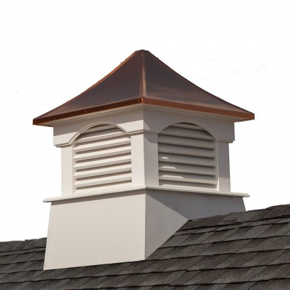 """Good Directions Coventry Vinyl Cupola with Copper Roof 84"""" x 107"""""""