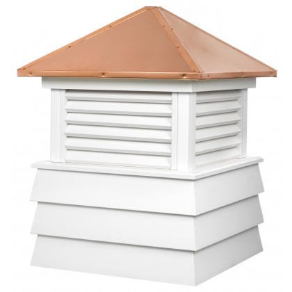 """Good Directions Dover Vinyl Shiplap Cupola with Copper Roof 42"""" x 59"""""""