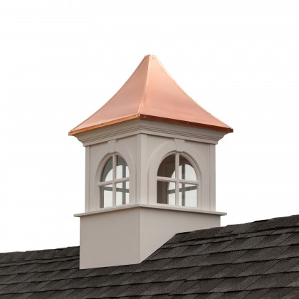 """Good Directions Smithsonian Fairfax Vinyl Cupola with Copper Roof 60"""" x 99"""""""