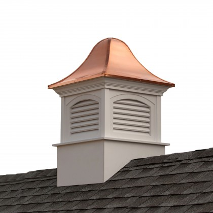 """Good Directions Fairfield Vinyl Cupola with Copper Roof 42"""" x 65"""""""